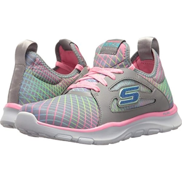 11a49ded2a4d Shop Skechers Kids Womens Flex Trainer 81774L (Little Kid Big Kid)  Gray Multi - Free Shipping Today - Overstock - 27121441