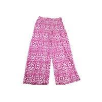 Lauren Ralph Lauren Pink Printed Wide-Leg Pants M