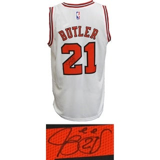 Jimmy Butler Signed Chicago Bulls White Official Adidas NBA Swingman Premier Jersey
