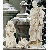 3-Piece Joseph's Studio Holy Family Outdoor Christmas Nativity Set - WHITE