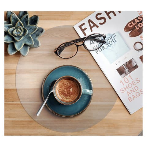 """Hometex® Fresh Mist 12"""" Anti-Microbial Round Placemats (Set of 2) - 12""""x12"""""""