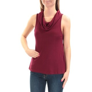 Womens Burgundy Sleeveless Cowl Neck Top Size XL