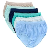Fruit of the Loom Women's Nylon Lace Trim Brief Underwear (6 Pack)
