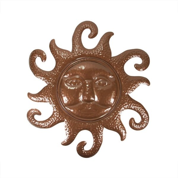 "20.5"" Chocolate Brown Sunshine Indoor/Outdoor Wall Decoration"