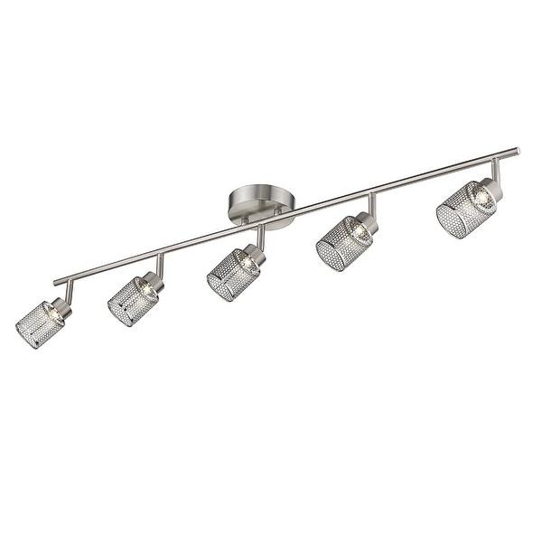 Eglo Temmar 5-Light Brushed Nickel LED Flush Mount Track Lighting. Opens flyout.