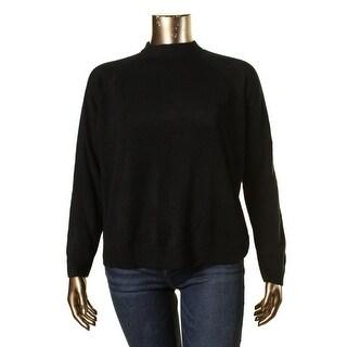 Karen Scott Womens Plus Knit Raglan Sleeves Pullover Sweater - 1X