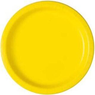 """Neon Yellow - Round Dinner Plates 8-5/8"""" 16/Pkg"""