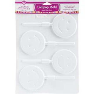 Smiley Face 4 Cavity (1 Design) - Lollipop Sheet Mold