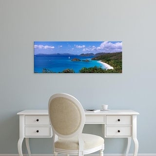 Easy Art Prints Panoramic Image 'Trunk Bay, Virgin Islands National Park, St. John, US Virgin Islands' Canvas Art