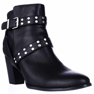 SC35 Betzie Studded Buckle Ankle Boots - Black