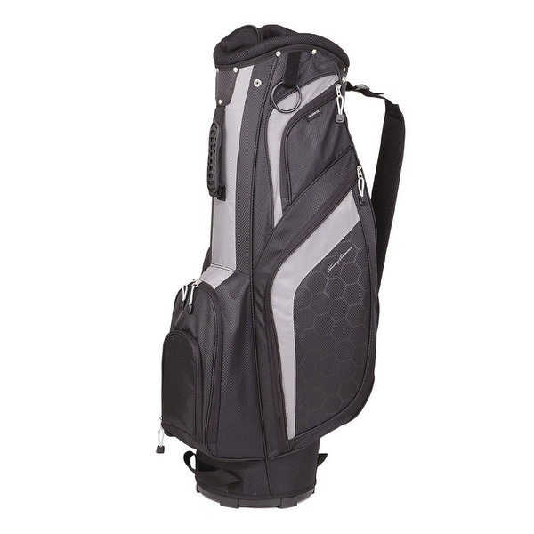 New Tommy Armour Torch Golf Cart Bag w/ 7-Way Top - Black / White - Black / White