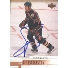 Sean ODonnell Minnesota Wild 2001 Upper Deck Autographed Card  This item comes with a certificate o