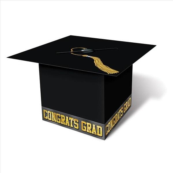 Graduation Cap Card Box - Black