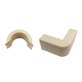 Offex 3/4 inch Surface Mount Cable Raceway, Ivory, Outside Elbow, 90 Degree