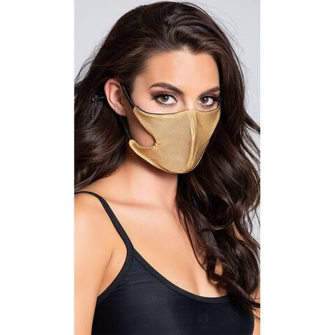 Heart Of Gold Foil Face Mask - One Size Fits Most