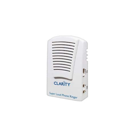 Clarity SR100 Super Phone Ringer with 95dB Adjustable Volume/Tone Control White