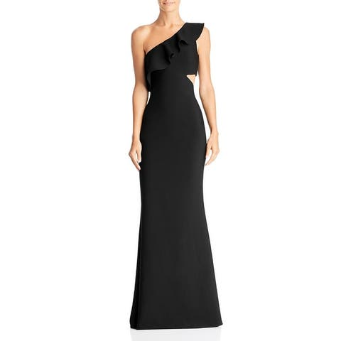 Likely Womens Jillian Evening Dress Ruffled One Shoulder