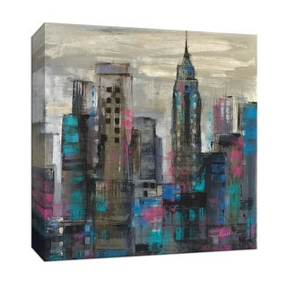 """PTM Images 9-152781  PTM Canvas Collection 12"""" x 12"""" - """"New York Moment III"""" Giclee Buildings and Landmarks Art Print on Canvas"""