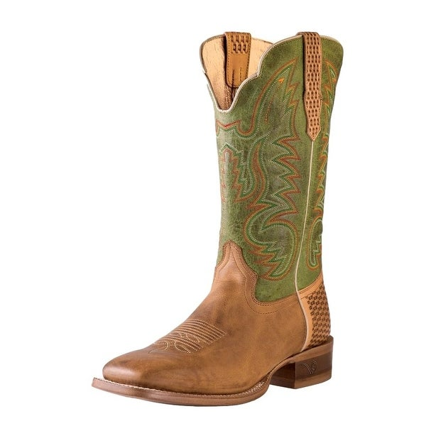 Outlaw Western Boots Mens Square Toe Basketweave Alamo Meil