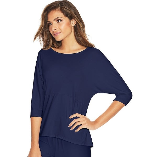 Maidenform Dolman Sleeve Lounge Top - Color - Maritime Blue - Size - S
