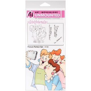 """Art Impressions Girlfriends Cling Rubber Stamps 10""""X4.5""""-Picture Perfect Set"""