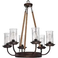 Craftmade 36126 Thornton Single Tier 6 Light Chandelier - 30.88 Inches Wide