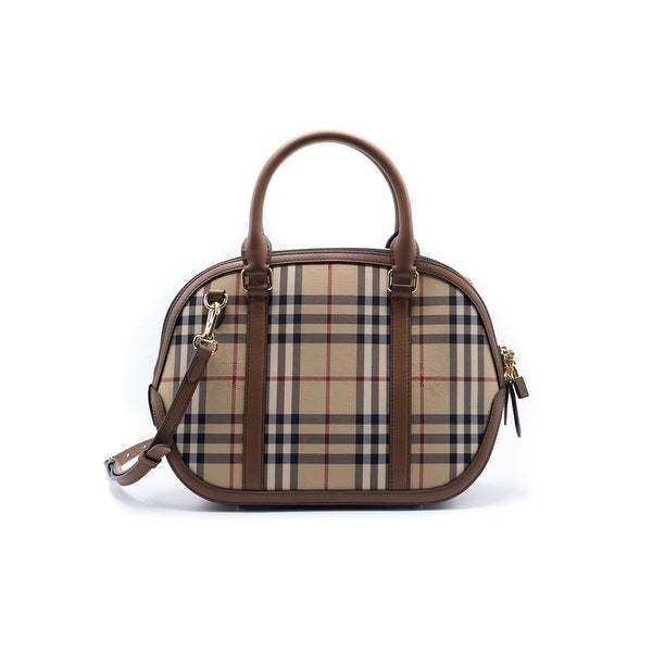 Burberry Womens Small Orchard Horseferry Check Tote Shoulder - horse ferry check