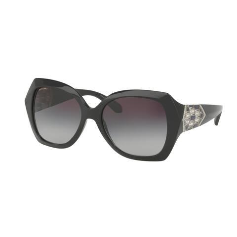 Bvlgari BV8182B 901/8G 55 Black Woman Square Sunglasses
