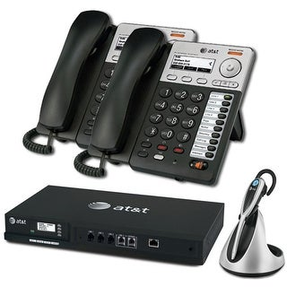 """AT&T SB35010 + (2) SB35025 + (1) TL7800 ATT Syn 248 SB35010 With 2 Multi-Line Desksets Plus Cordless headset"""