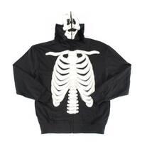 GWP Black Mens Size Large L Skeleton Glow in Dark Hooded Sweater