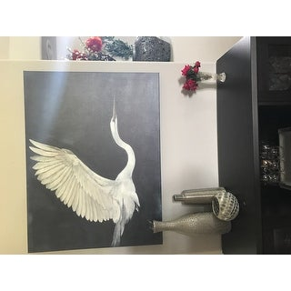 """Norman Wyatt Home """"Night Flying"""" White/ Blue Bird Gallery Wrapped Canvas Art"""