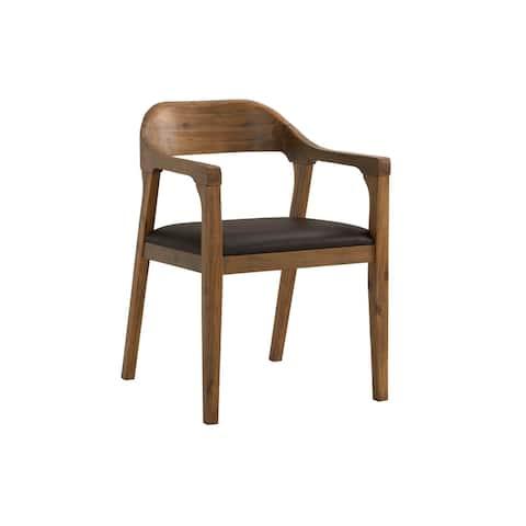 Rasmus Mid Century Wood Dining Arm Chair