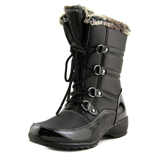 Sporto Lenore Women Round Toe Synthetic Black Snow Boot