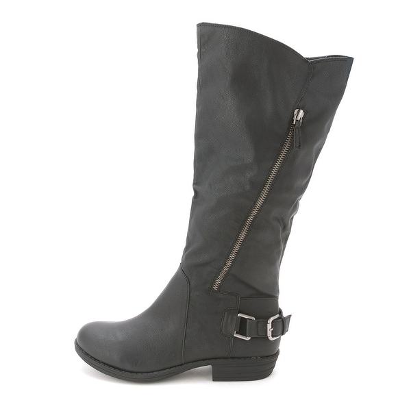 Womens Asher Closed Toe Mid-Calf Riding Boots