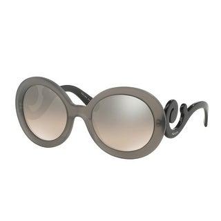 Prada Minimal Baroque SPR 27N UBV-4P0 Transparent Grey Mirror Round Sunglasses - Transparent Grey - 54mm-19mm-135mm