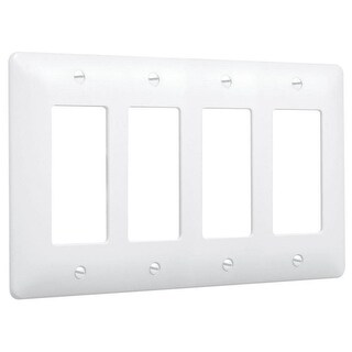 TayMac 5555 Masque 4 Gang Rocker / GFI Wall Plate - White - N/A