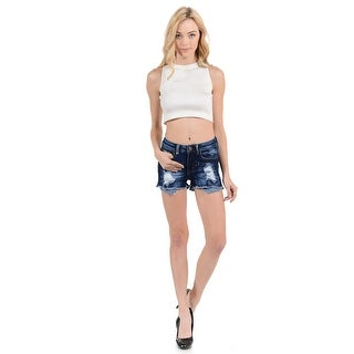 Sweet Look Women's Shorts - Denim -N1096-R - Color - Blue - Size - 0