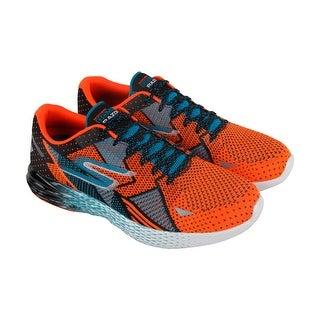 Skechers Gomeb Razor Mens Orange Blue Textile Athletic Lace Up Running Shoes