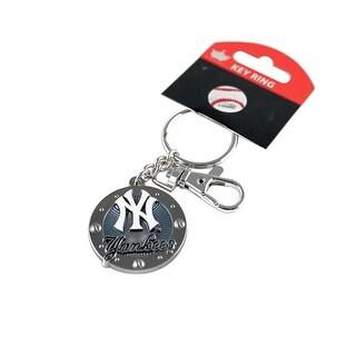 New York Yankees MLB Impact Metal Key Ring Keychain