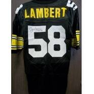 Signed Lambert Jack Pittsburgh Steelers Authentic Pittsburgh Steelers Jersey size 48 Light Signatur