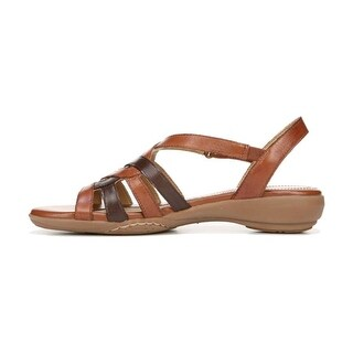 Naturalizer Womens Charm Leather Open Toe Casual Slingback Sandals