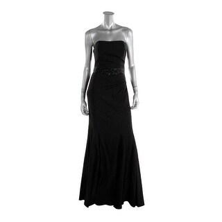 Badgley Mischka Womens Jacquard Prom Evening Dress