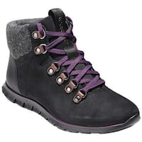 Cole Haan Women's ZEROGRAND Hiker Boot Black/Elderberry Leather