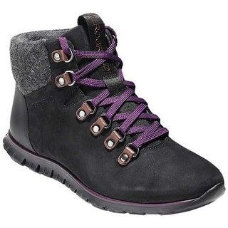 Cole Haan Women's ZEROGRAND Hiker Boot Black/Elderberry Leather