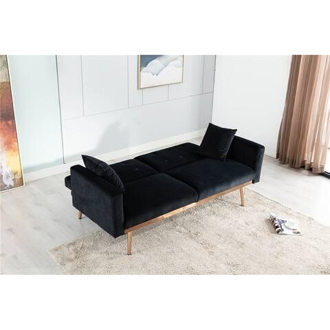 Velvet Sofa Accent sofa Loveseat sofa with Metal feet and Velvet Cushion
