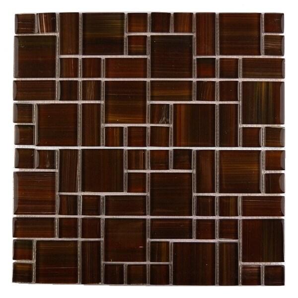 Miseno MT-WHSHDCMGC-FR Handicraft II - Random Versailles Wall Mosaic Tile - Varied Glass Visual - Red
