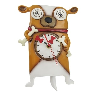 Allen Designs Roofus the Dog Wall Mounted Pendulum Clock - 10.5 X 8.25 X 2.5 inches