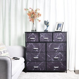 Link to 9 Drawer Extra Wide Fabric Storage Organizer Clothes Dresser Similar Items in Bedroom Furniture