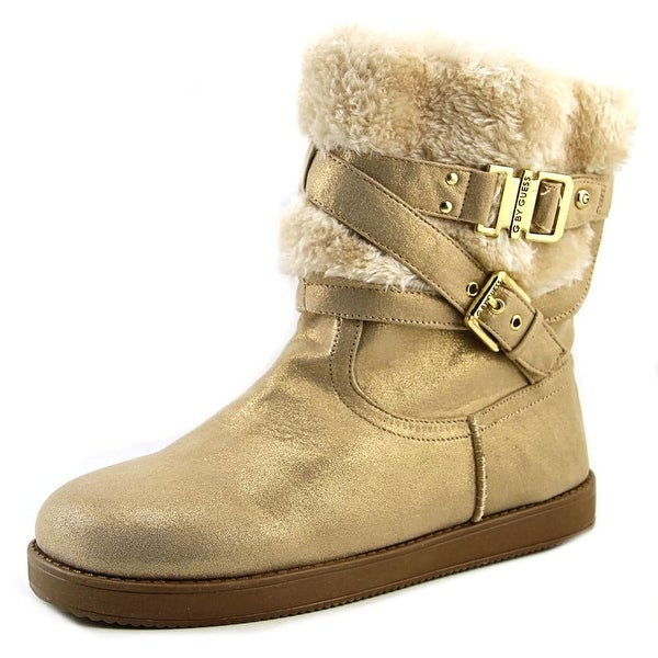 G By Guess Azzie Women Round Toe Synthetic Gold Winter Boot