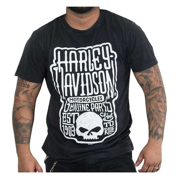 97f2db3a Shop Harley-Davidson Men's Ancient Premium Short Sleeve T-Shirt, Black  Marble - Free Shipping On Orders Over $45 - Overstock - 23042381